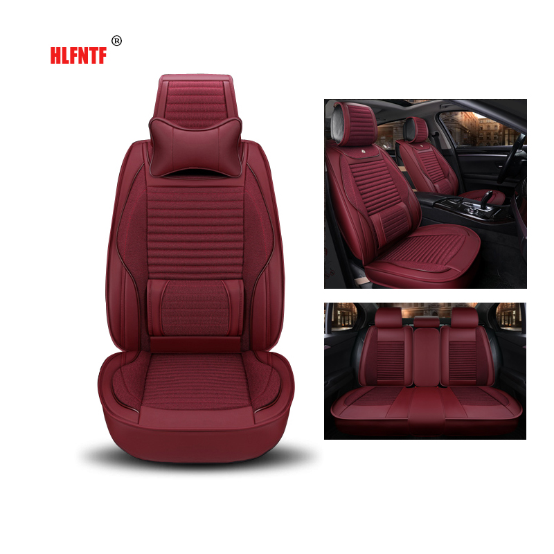 Linen plus leather Special Car Seat Cover for Renault megane 2 3 duster captur logan fluence laguna 2 Sandero car accessories for renault megane 2 fluence duster logan small hole ventilate wear resistance pu leather front