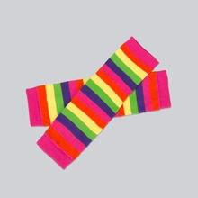 Теплые гетры для малышей новые зимние носки с радугой комплект