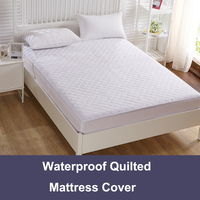 YANHOM Waterproof Mattress Bed Cover Brushed Fabric Quilted Mattress Protector Waterproof Mattress Topper