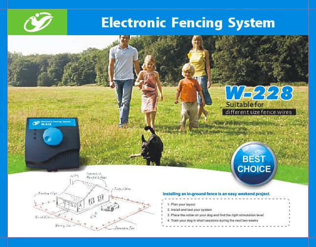 2017new pet dog waterproof electric smart dog underground pet fencing system training dog collarchina