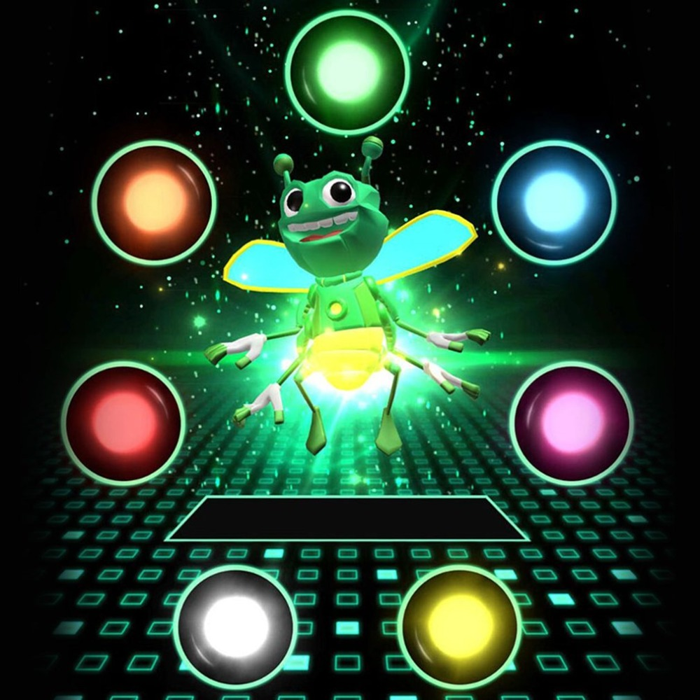 3D Honeybee Projector Finger Magic Lamps Novelty Toy Light-up Bugz Tricks Props Mobile Phone Projection Toy for Kids novelty bloody nail through finger tricky toy magic props