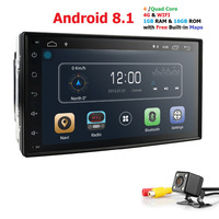Hizpo Car NO DVD Player 2din Android for universal Toyota Corolla Auris gps navigation Car Multimedia player automotivo FM AM