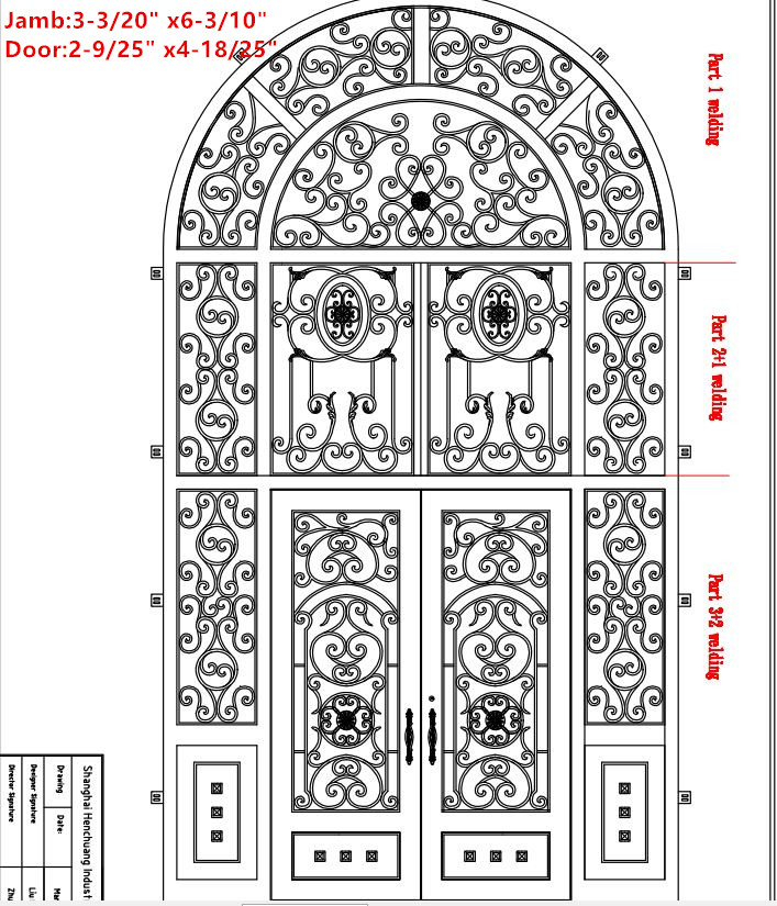 Hench 100% Steel Iron Doors  Model Hc-id93
