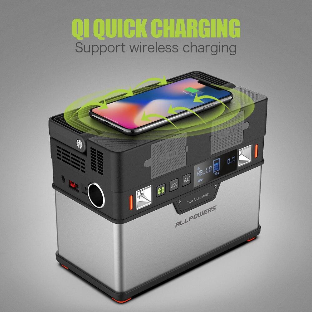 ALLPOWERS 110V ~ 230V Power Bank Pure Sine Wave generador portátil de energía Estación de alimentación coche refrigerador TV Drone teléfonos portátiles. - 3