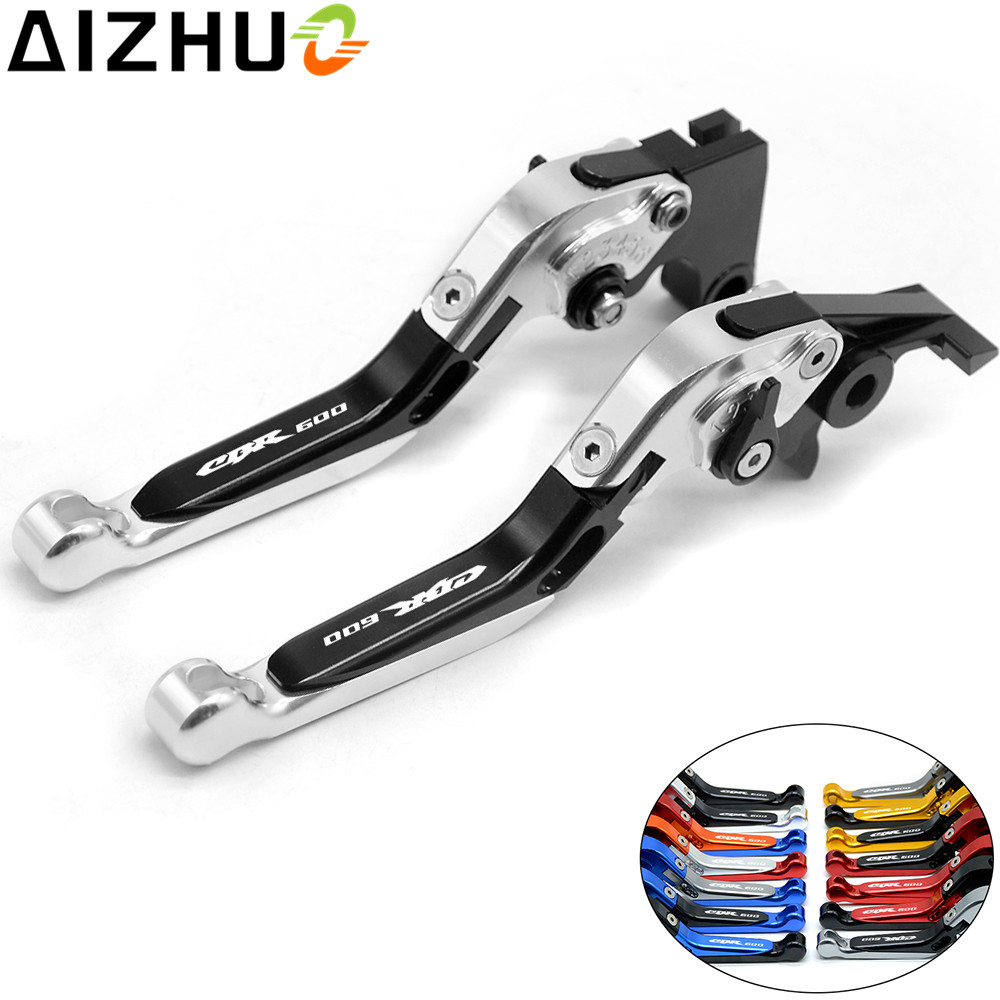 Motorcycle Clutch Brake Lever Adjustable Extendable CNC Aluminum Levers With CBR600 LOGO For Honda CBR600 CBR 600 F2 F3 F4 F4i 2015 motorcycle aluminium brake oil reservoir cap for honda cbr600 f2 f3 f4 f4i 1990 2006 new chrome free shipping c20