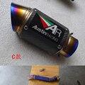 Titanium Сплав Середине трубы Углерода Titanium Глушитель Полный Набор Выхлопной Системы Для ZX-10R 10R ZX10R 2009