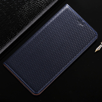 Top Genuine Leather Magnetic Case For Samsung Galaxy Note 2 N7100 Denim Lines Retro Luxury Stand