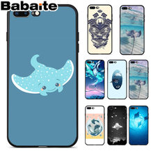 Babaite Tier manta ray Coque Beliebte Handy Fall Abdeckung für Apple iPhone 8 7 6 6S Plus X XS MAX 5 5S SE XR Handys(China)