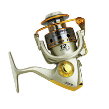 JX1000-7000 Spinning Fishing Reel 5.5:1 Wood Handle Knob Metal Spool Tackle Lure Rod Telescopic Wheel pesca