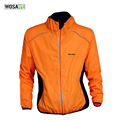 WOSAWE Men Winter Autumn Cycling Coat Windproof Road Bike Cycle Clothing Long Sleeve Jersey Wind Rain Waterproof Jacket, Orange