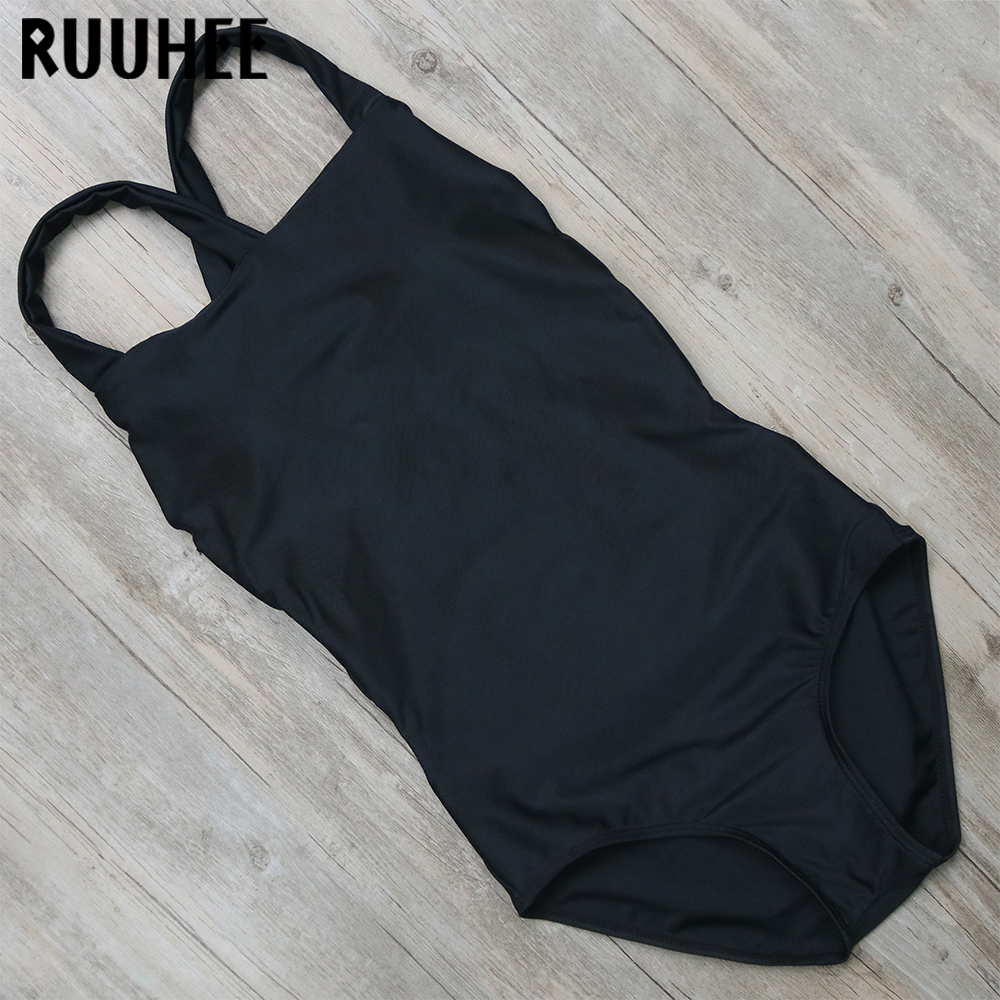 RUUHEE One Piece Bikinis Set Women Swimwear Swimsuit Bandage Bathing Suit Monokini Summer Beachwear Padded Maillot De Bain Femme hot women one piece swimwear women push up monokini maillot de bain bathing suit swimsuit plus size shorts bikinis beachwear