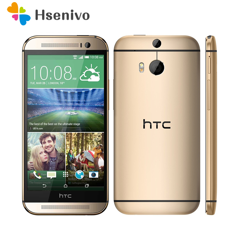 Free Shipping HTC M8 100 Original HTC One M8 Phone With 5 0 screen Quad core