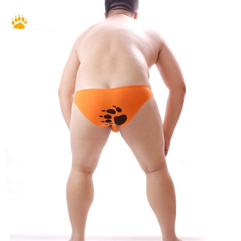 Limited edition Plus Size Bear Claw Men's Cotton Briefs Gay Bear Low Waist Underwear Sexy Shorts Design For Bear M L XL XXL XXXL