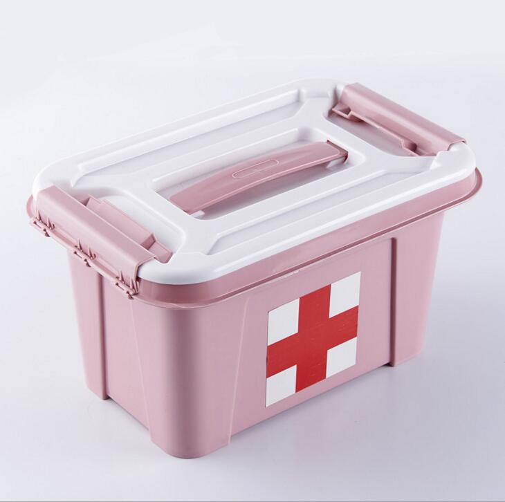 PDJ11-Free Shipping Plastic health medicine cabinet pharmacy first aid kit medical box custom compartment storage box ...
