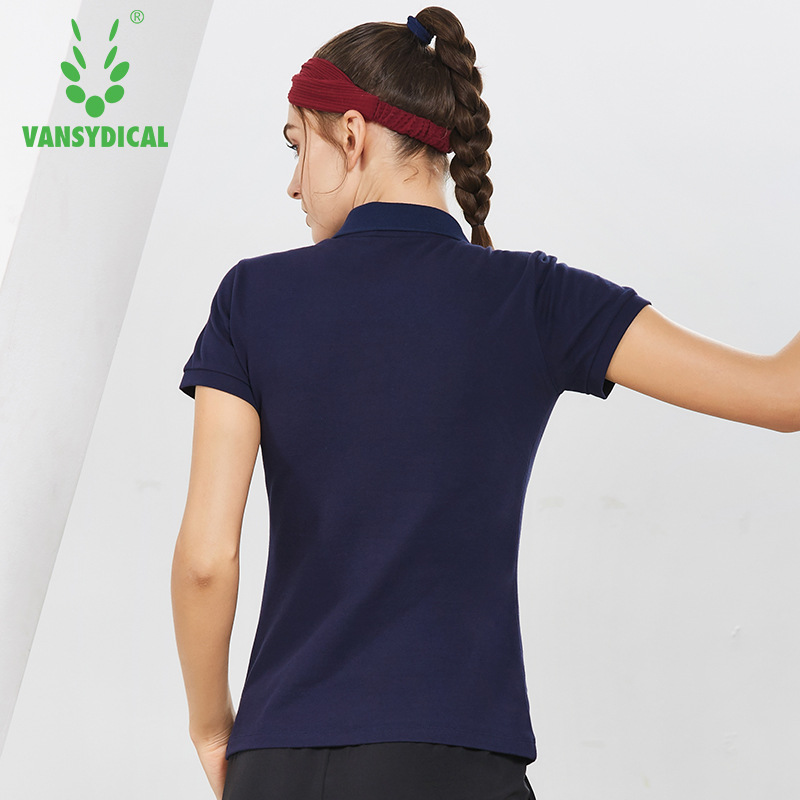 NEW Sports Polo Shirts Tops Womens Golf Shirts Short Sleeve Cotton Breathable Outdoor Workout Tennis Golf Jerseys