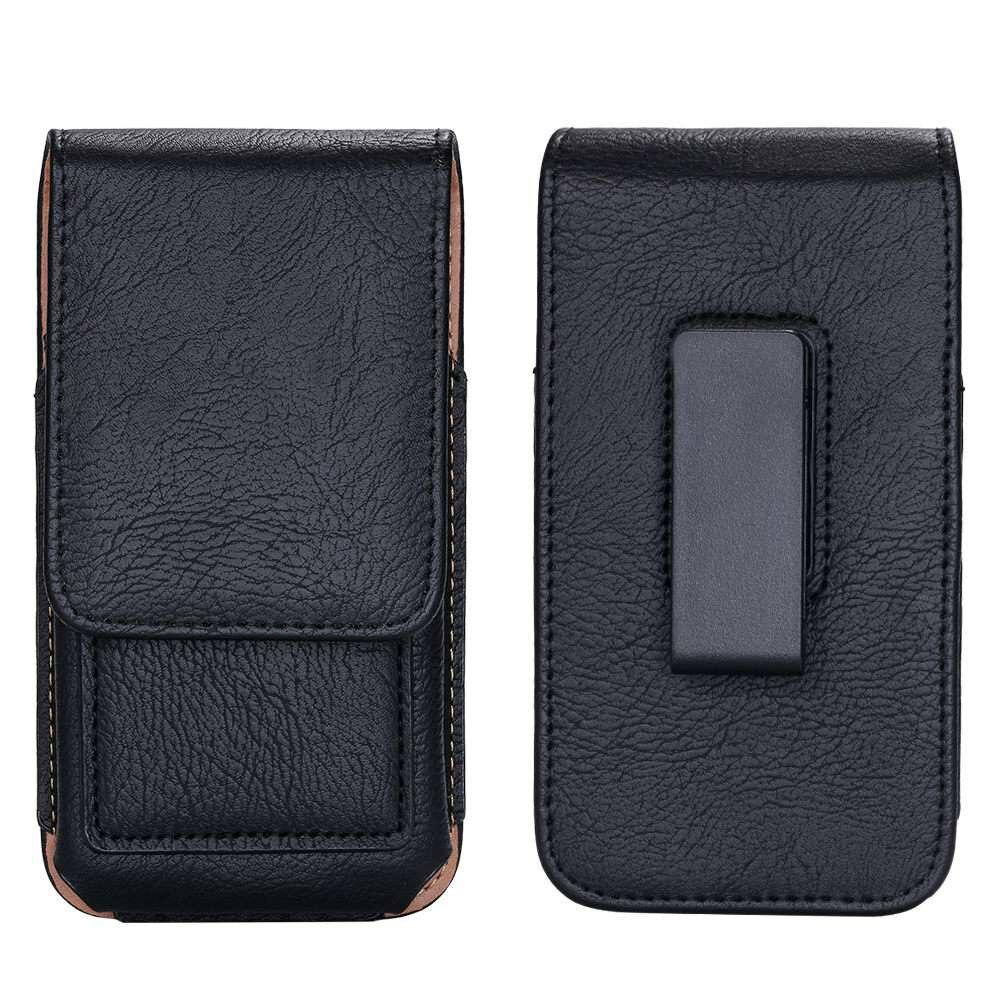 Universal de la cintura de cuero bolsa para Blackview A7 Pro Bv8000 Bv7000 casos bolsa Horizontal Clip de cinturón para Doogee S60 X10 teléfono caso