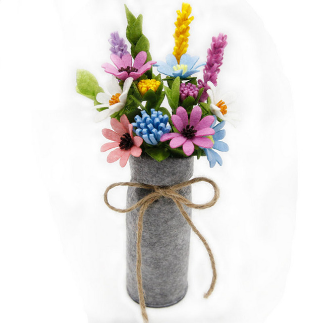 1 Piece Draw Toys Design DIY Flower Bouquet Non Woven Artificial ...