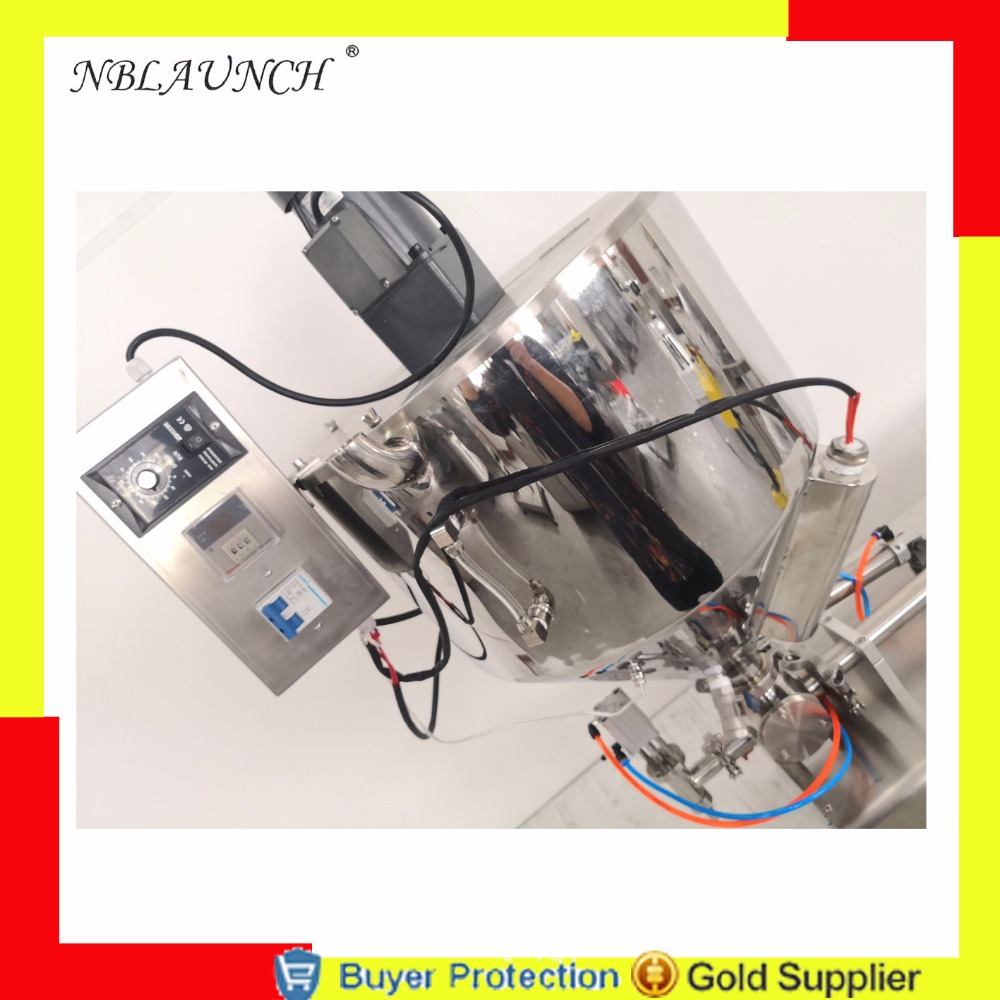 Free shipping filling machine mixer mixing heater hopper jar honey pulp grease peanut butter chocolate granules filler hopper Бутылка