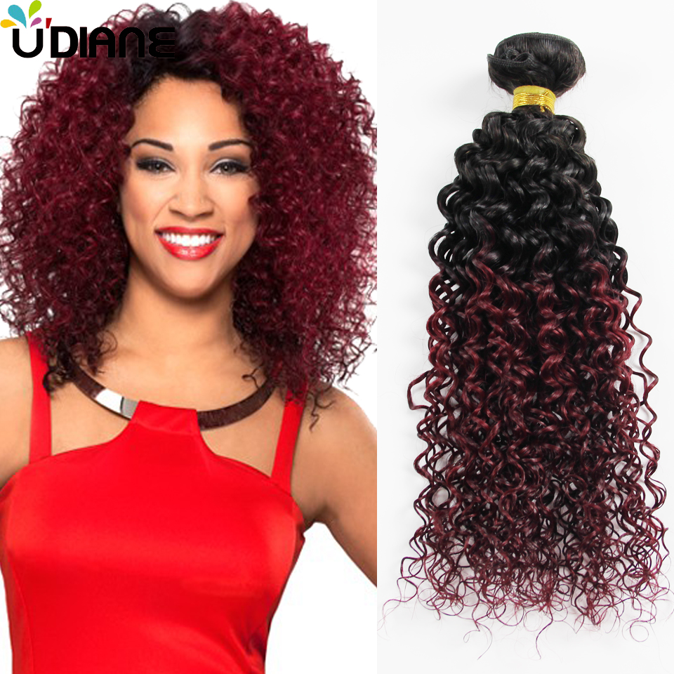 ombre curly hair extensions two