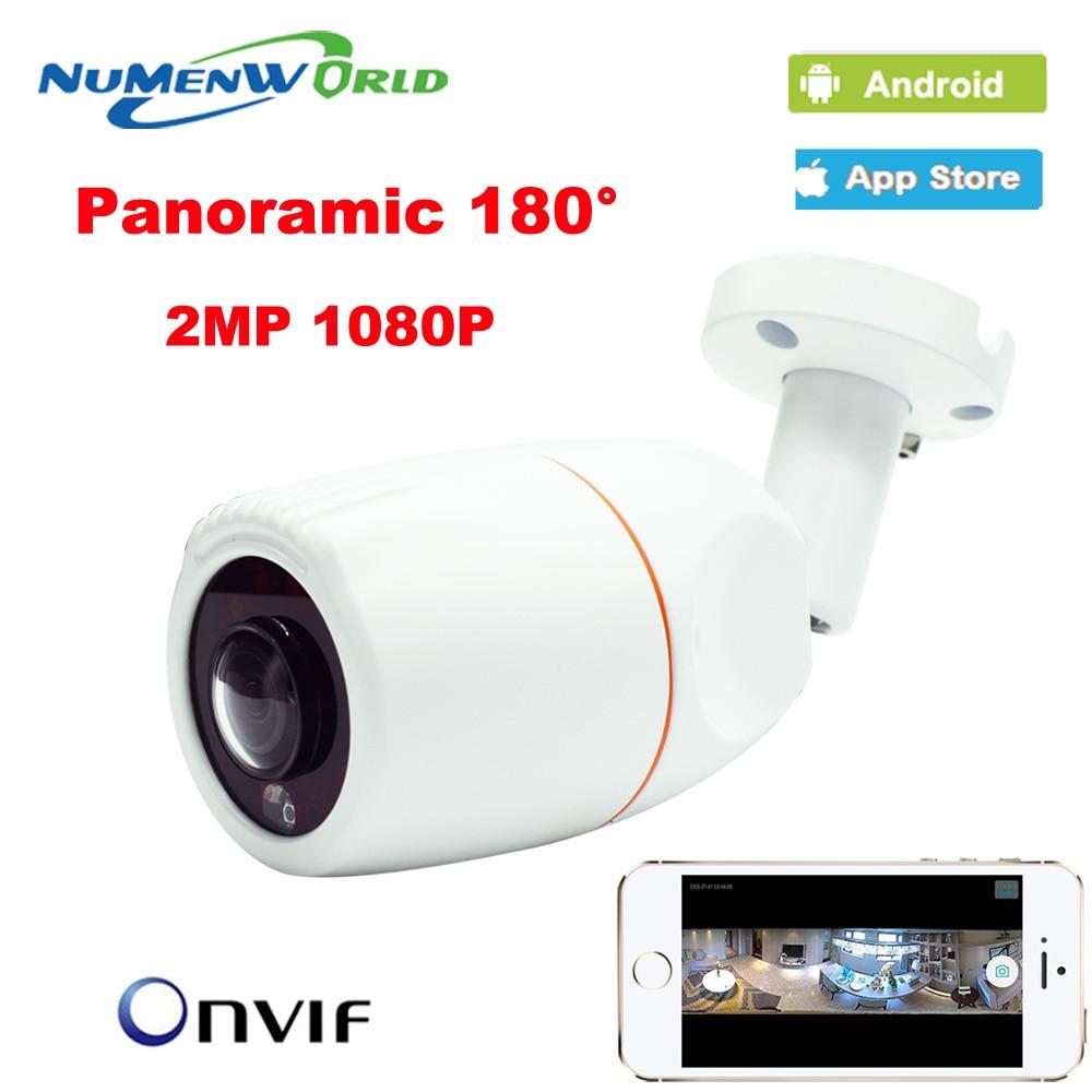 imágenes para VR Panorámica de 180 Grados Lente de Ojo de Pescado Al Aire Libre 1080 P IP Nocturna de La cámara kamera Veresion APP Control Remoto P2P IP Cámara Web Onvif