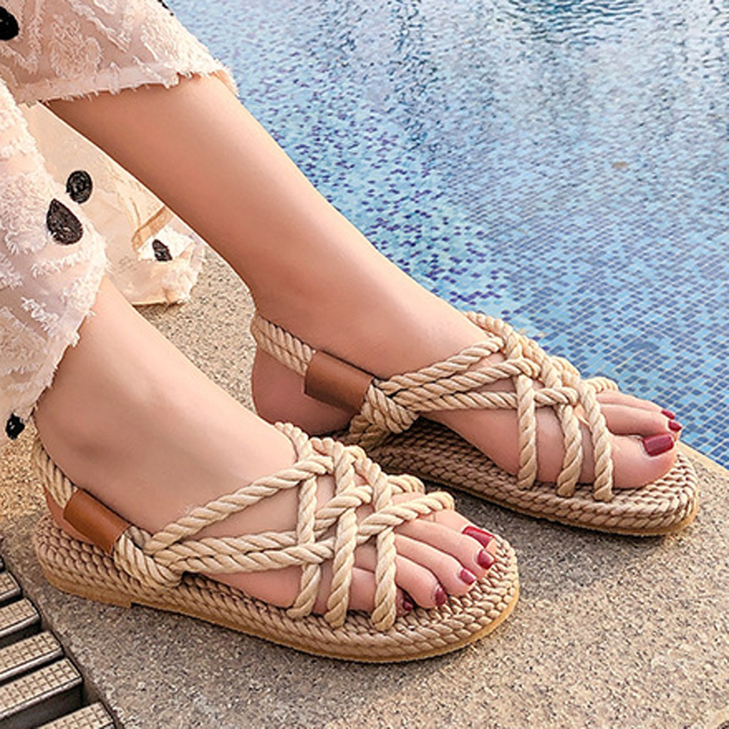 HTB1bjZ8dQ5E3KVjSZFCq6zuzXXa7 - SAGACE Sandals Woman Shoes Braided Rope With Traditional Casual Style And Simple Creativity Fashion Sandals Women Summer Shoes