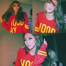 2NE1 CL Толстовка Кофты Do You Love Me МВ Гуд По Воздуху Пальто Пуловер