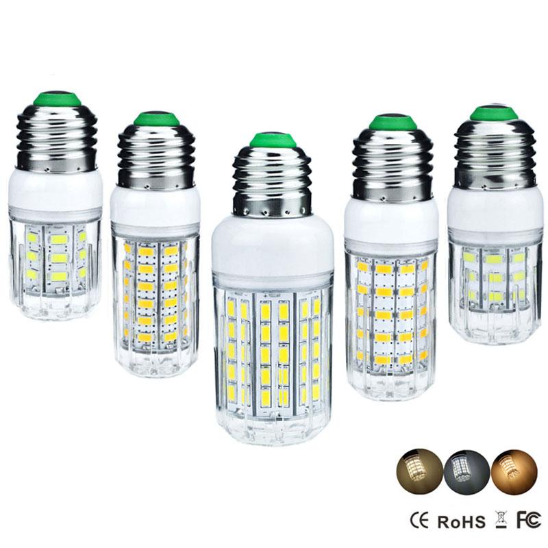 24 27 30 36 48 56 59 69 72 96LEDs E27 LED Corn Light Bulb Replace Compact Fluorescent Lamp CFL AC 220V 5W 7W 9W 12W 15W 20W 25W