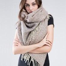 ZA winter scarf 2016 Tartan Scarf women desigual Plaid Scarf cuadros Brand Designer Acrylic Tassels Shawls warm Wool Scarf