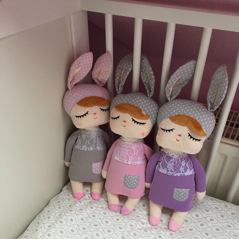 6 Colors 35cm Angela Rabbit Plush Toy Doll Lace Baby Doll with Sleep Plush Baby Toys For kids girls Birthday/Christmas Gift