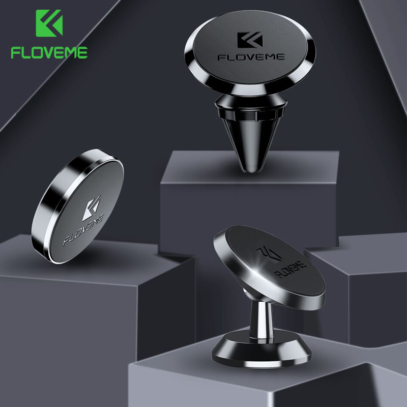 FLOVEME 3 Type Magnetic Car Phone Holder Magnet Stand Holder For Phone In Car Mount For Xiaomi Redmi Note7 For IPhone X Holder