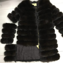 2016 listed on the new women's natural fox fur coat to keep warm removable sleeves removable length.Zipper length