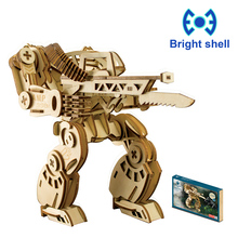 цена на Creative DIY Laser Cutting 3D Mechanical Wooden Puzzle Learning Educational Toy Game Assembly Toys for Children Jigsaw Kids Toys