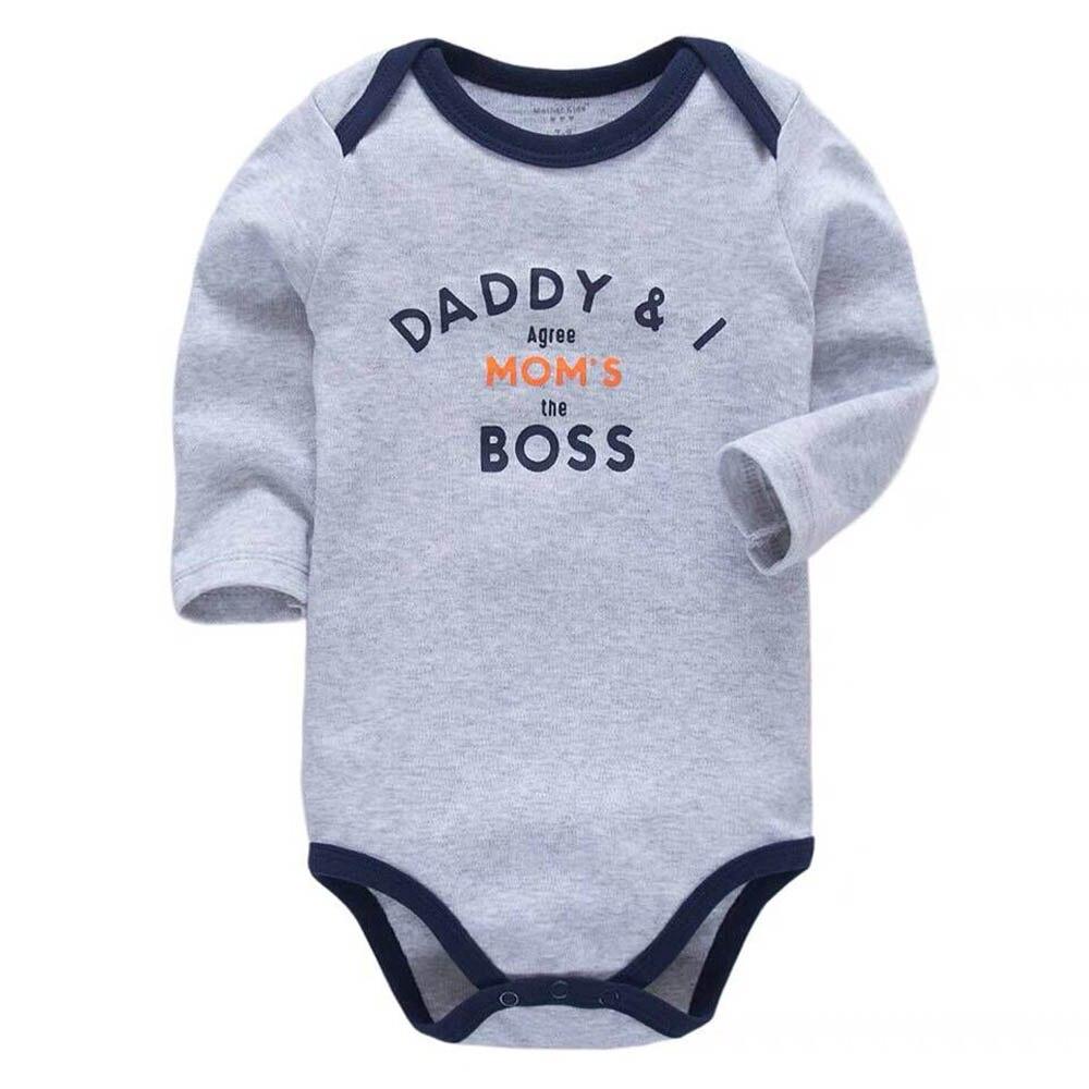 Babys Panda Smoking Boss Long Sleeve Romper Onesie Bodysuit Jumpsuit