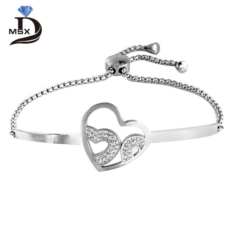 Cuore Bracciale A Fascia Argento Sterling Massiccio Metallico Bracciale 50% OFF Fine Jewelry Fine Bracelets