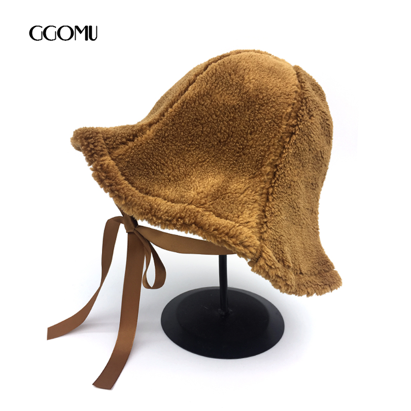 dropshipping Vintage Women Fedora hat Casual outdoor Autumn Winter Wo  bucket hat fashion warm cap for girls black hat