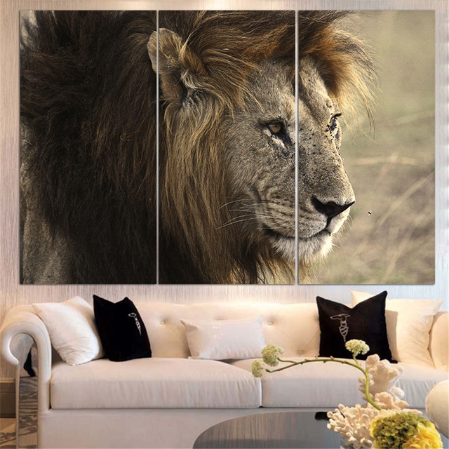 Attrayant UnFramed Animal Oil Painting Lion King Posters Wall Art And Prints Home  Decor Mordern Canvas Pictures