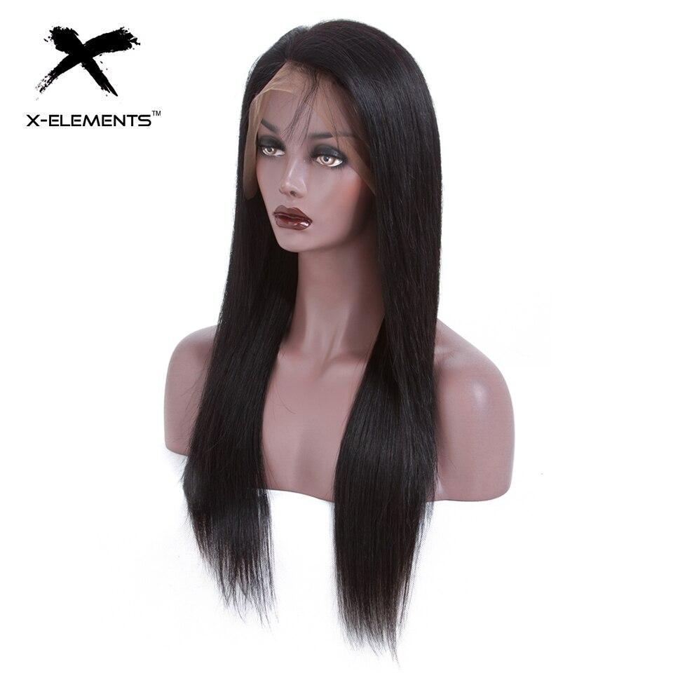 X-Éléments Cheveux Brésiliens Perruques Avant de Lacet de Cheveux Humains Perruques Avec Bébé Cheveux 13*4 Dentelle Frontale Remy perruques de Cheveux humains Pour Les Femmes