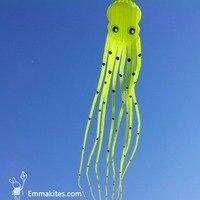 Наружная игрушка 15 м большой 3D воздушный змей в форме трубки Parafoil Осьминог воздушный змей Ripstop нейлоновая ткань мягкий воздушный змей