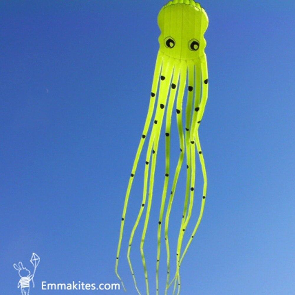 Jouet d'extérieur 15 M grand cerf-volant 3D en forme de Tube pieuvre cerf-volant Ripstop tissu en Nylon doux cerf-volant