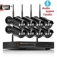 HD Беспроводная система видеонаблюдения 8CH 1080 P безопасность NVR 2MP Аудио Открытый водостойкий Wifi ip камера P2P видео комплект видеонаблюдения 2 Т