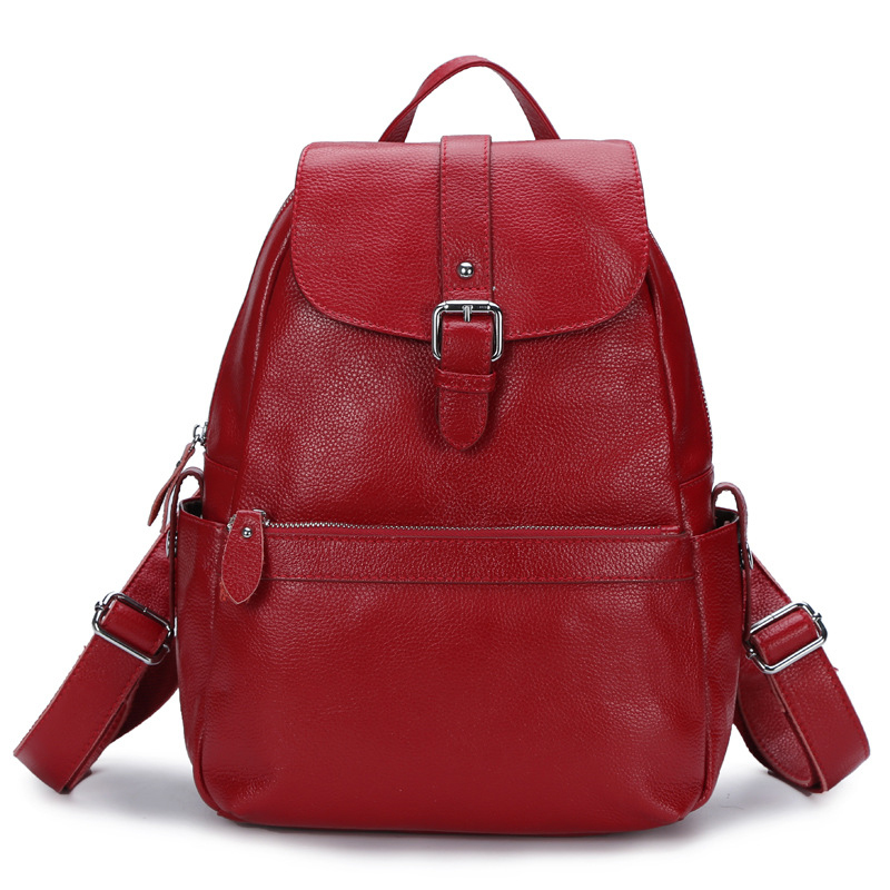 2016 New fashion Preppy style genuine leather women backpacks travel shopping casual shoulder bags female school backpack - East Asia Leather store