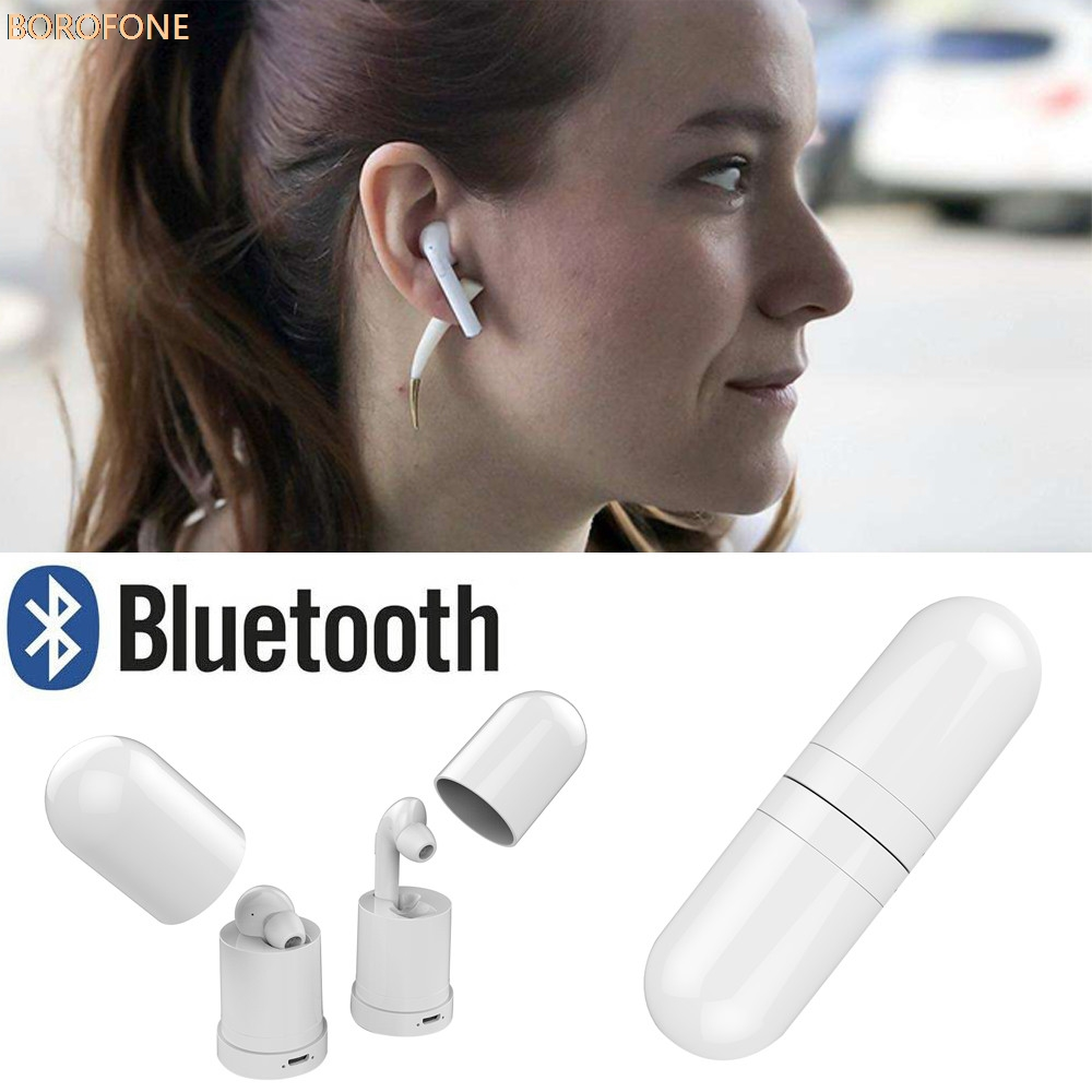 Wireless Bluetooth V4.2 Headset Mini In-Ear Earphone Built-in MIC For iPhone Stereo Headphone for Cell Phone MP3 Drop Shipping