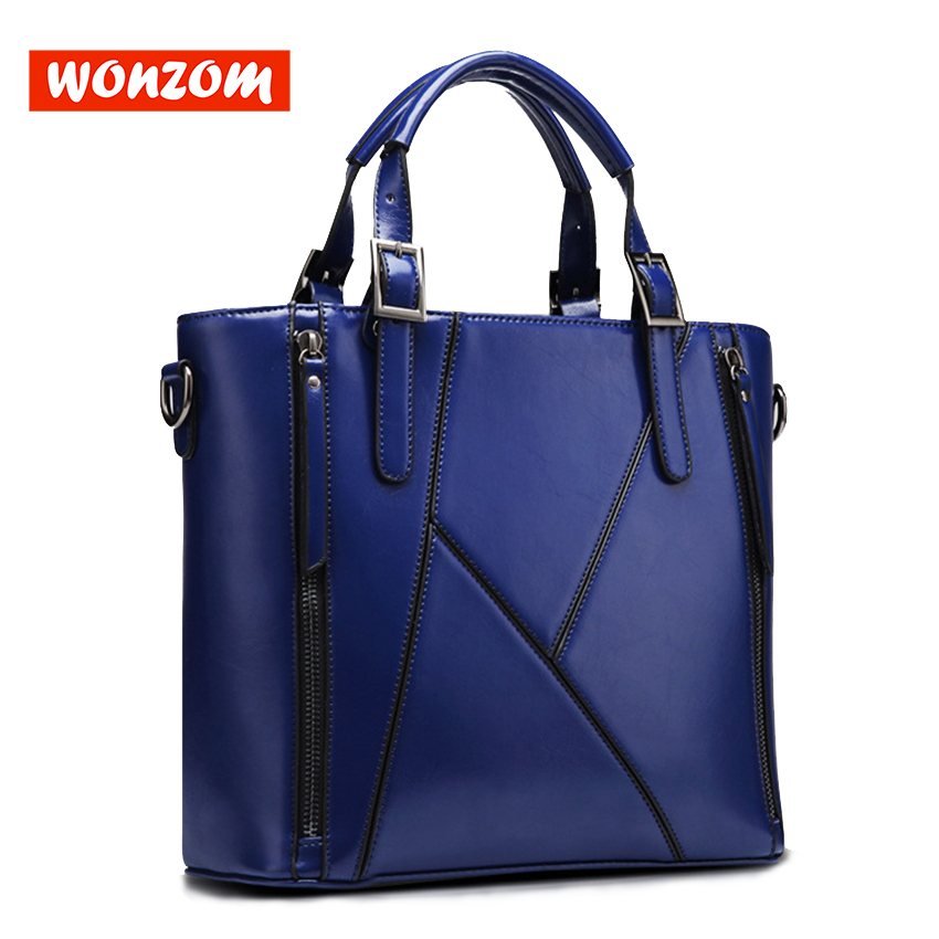 WONZOM New Arrival Lady Fashion Elegant 4 Colors Vintage Leather Handbag Shoulder Crossbody Bags Large Capacity Design For Women 2015 lady s fashion new arrival women s handbag 100
