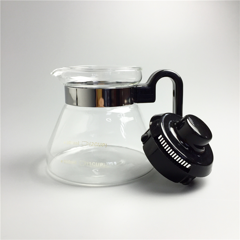 350ml Glass Coffee Pot Teapots Kettle Coffee Server Tools Tea Pot Heat-resistant Glass Can Be Directly Open Flame Heating
