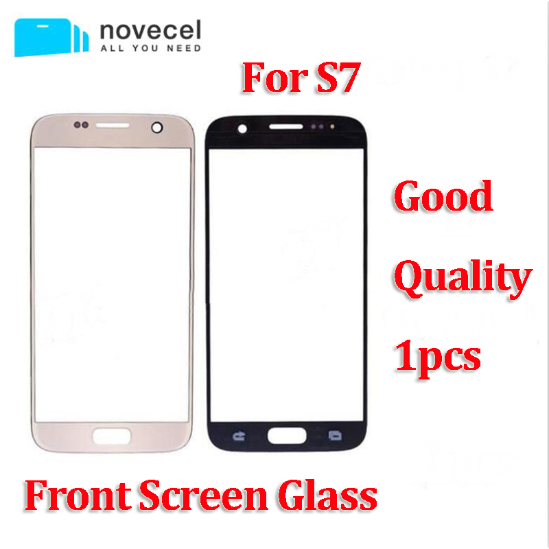 10 pcs Novecel good quality front glass lens for Samsung S7 G930F LCD display outer touch panel screen glass replacement