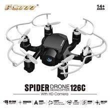 Nueva FQ777 126C FQ777-126C 2.4G 4CH 6 Axis Gyro Sin Cabeza modo de 360 Grados Eversión con HD Cámara RC Quadcopter Araña Drone