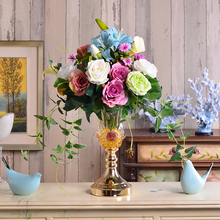 Modern minimalist fashion decoration decoration glass floor living room Home Furnishing dry flower flower vase