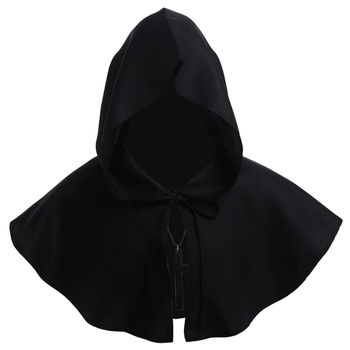 Medieval Renaissance Hood Polyester Capelet LARP Mantle Hat 1