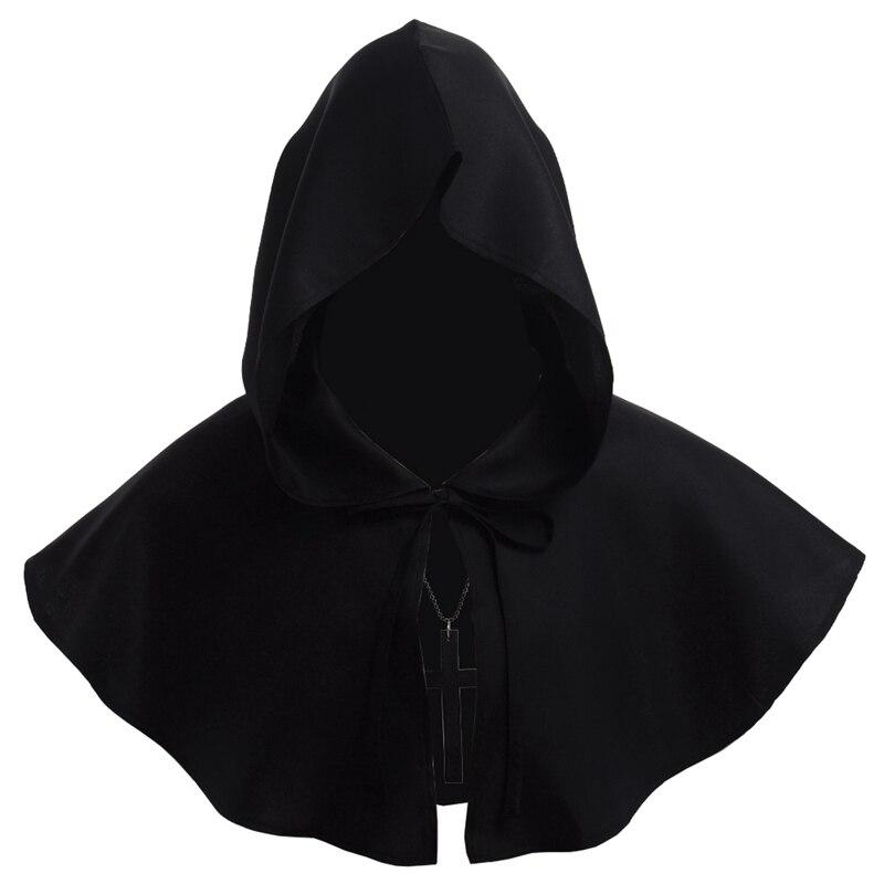 0d8acb5ac5e6 [HOT DEAL] US $10.99 for Men Medieval Costume Renaissance Hood Polyester  Capelet LARP Mantle Hat