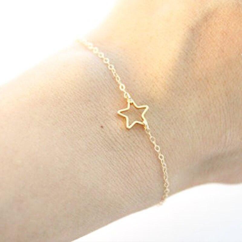 FLTMRH   Multi Bangle Slave Chain Link Interweave Finger Rings Hand Harness Bracelets Gold 4
